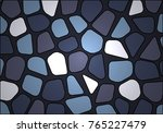 stone wall made of cobblestones | Shutterstock .eps vector #765227479