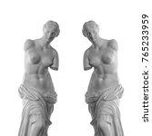 venus statue on a black... | Shutterstock . vector #765233959