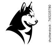 Husky Dog Black And White...