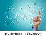 people network. organizational...   Shutterstock . vector #765238009