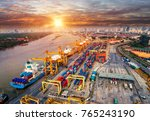 logistics and transportation of ... | Shutterstock . vector #765243190