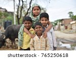 group of children from rural...   Shutterstock . vector #765250618