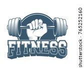 gym logo  fitness logo | Shutterstock .eps vector #765252160