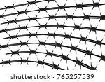 vector silhouette of barbed...   Shutterstock .eps vector #765257539
