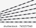 vector silhouette of barbed... | Shutterstock .eps vector #765257560