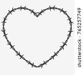 shape of heart. vector... | Shutterstock .eps vector #765257749