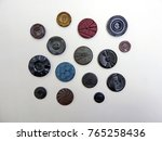 a variety of decorative buttons ... | Shutterstock . vector #765258436
