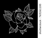 rose vector illustration.... | Shutterstock .eps vector #765261100