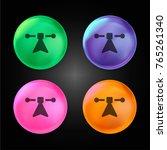 node crystal ball design icon...   Shutterstock .eps vector #765261340