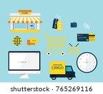online market vector set   Shutterstock .eps vector #765269116