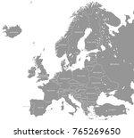 vector illustration of a grey... | Shutterstock .eps vector #765269650