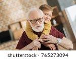 my family. nice serious elderly ... | Shutterstock . vector #765273094