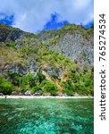 white beach on coron island ... | Shutterstock . vector #765274534