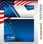 flag of usa background for... | Shutterstock .eps vector #765275503