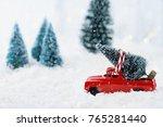 1950's antique vintage red... | Shutterstock . vector #765281440