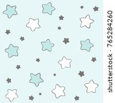 hand drawn stars vector pattern ... | Shutterstock .eps vector #765284260