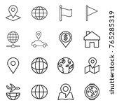 thin line icon set   pointer ... | Shutterstock .eps vector #765285319