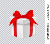 gift box with red ribbon.... | Shutterstock .eps vector #765285760