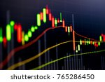 financial data on a monitor as...   Shutterstock . vector #765286450