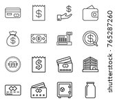 thin line icon set   card ... | Shutterstock .eps vector #765287260