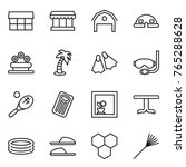 thin line icon set   market ... | Shutterstock .eps vector #765288628