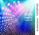 colorful and bright blue disco... | Shutterstock .eps vector #765289420