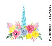 Watercolour Floral Print ...