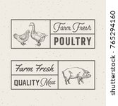 farm fresh poultry and meat... | Shutterstock .eps vector #765294160