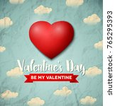 valentines day greeting card...   Shutterstock .eps vector #765295393