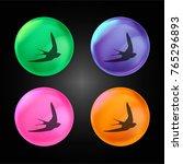 swift bird shape crystal ball...   Shutterstock .eps vector #765296893