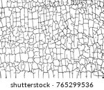 structure of the cracked earth... | Shutterstock .eps vector #765299536