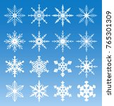 vector snowflakes in the blue... | Shutterstock .eps vector #765301309