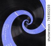 abstract music vinyl disc... | Shutterstock . vector #765302233
