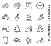 thin line icon set   bio  sun... | Shutterstock .eps vector #765303616