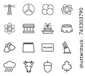 thin line icon set   lighthouse ... | Shutterstock .eps vector #765303790
