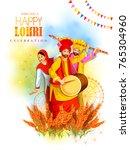vector illustration of happy... | Shutterstock .eps vector #765304960