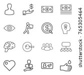 thin line icon set   man ...   Shutterstock .eps vector #765305464