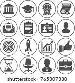 illustration of business career ... | Shutterstock .eps vector #765307330