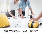 engineer meeting in modern...   Shutterstock . vector #765310099