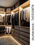 luxurious walk in closet with... | Shutterstock . vector #765310876