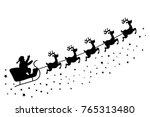 christmas greeting card vector... | Shutterstock .eps vector #765313480