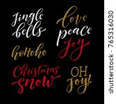 vector set of holidays... | Shutterstock .eps vector #765316030