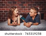 nice children boy and girl have ... | Shutterstock . vector #765319258