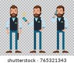 businessman cartoon character... | Shutterstock .eps vector #765321343