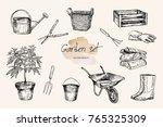 vector illustration. pen style... | Shutterstock .eps vector #765325309
