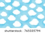 vector  white clouds  blue sky  ... | Shutterstock .eps vector #765335794
