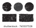 grunge stamps collection.vector ... | Shutterstock .eps vector #765337528