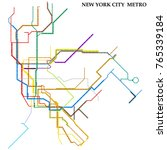 map of new york city metro ... | Shutterstock .eps vector #765339184