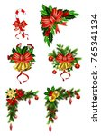 christmas decoration with bow | Shutterstock .eps vector #765341134