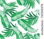 banana leaf seamless pattern | Shutterstock .eps vector #765342478